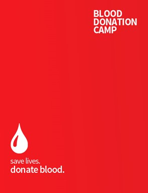 Blood donation camp facebook post