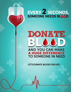 Blood donation facebook post