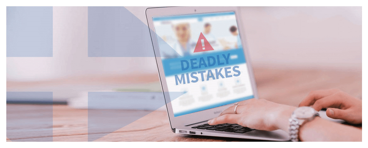 9 Deadly mistakes on your hospital's website