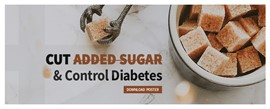 Cut Added Sugar & Control Diabetes - Free Poster Download