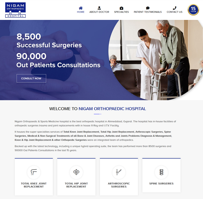 nigam orthopaedic website