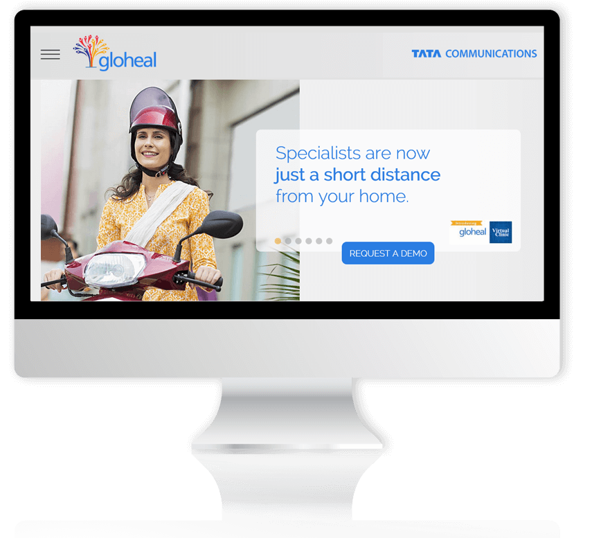Gloheal website Desktop size