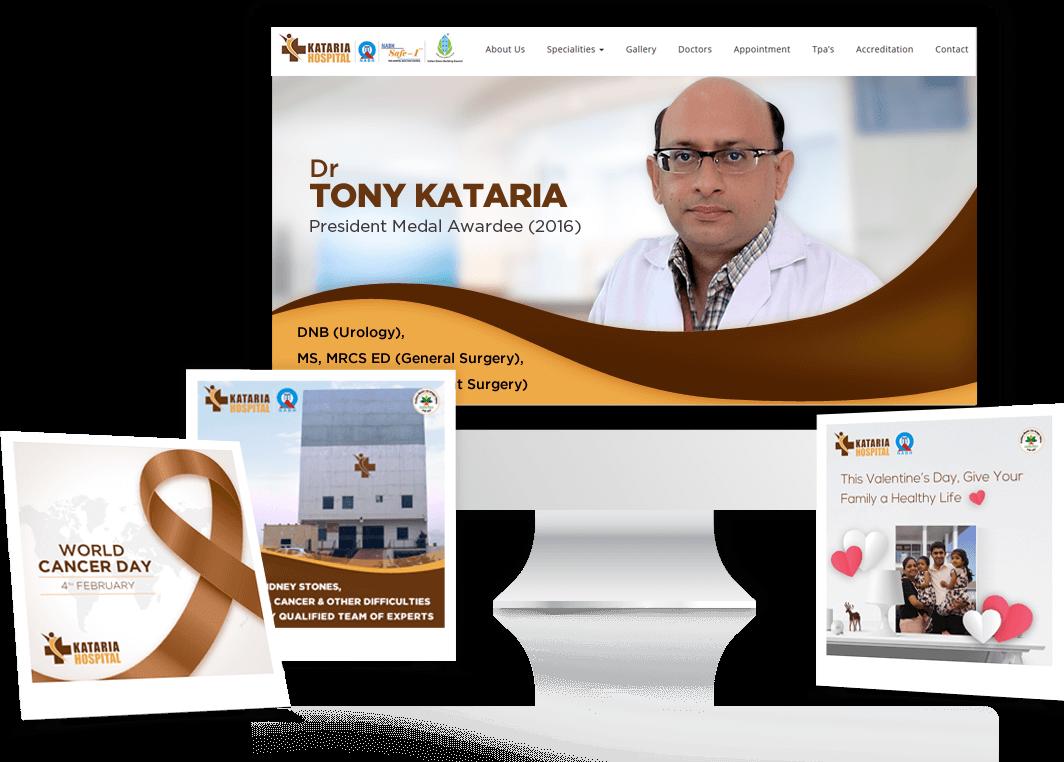 Kataria hospital website